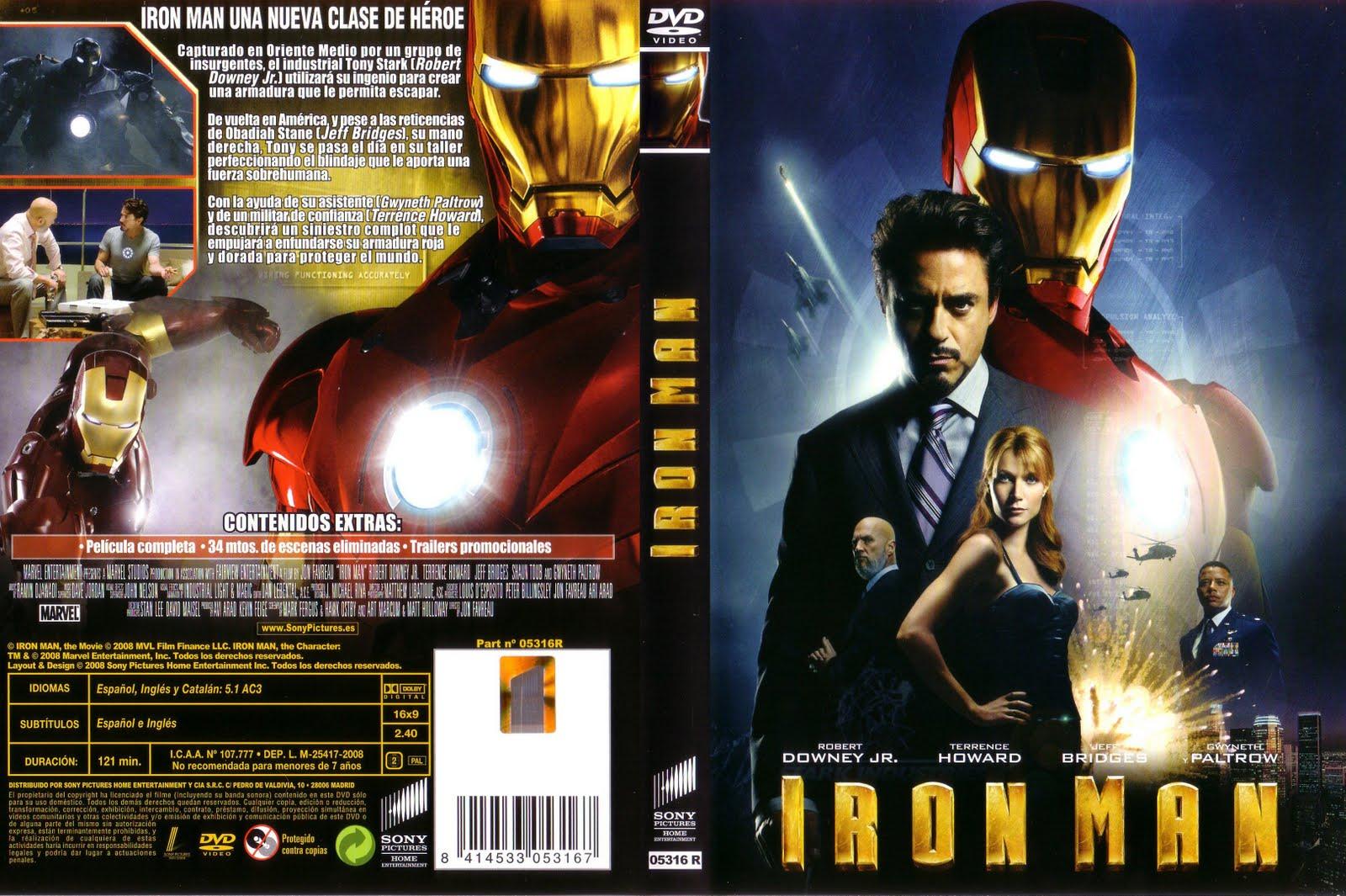 Descargar Iron Man 4 A2zp30: Iron-man Dvdfull + Extras Latino