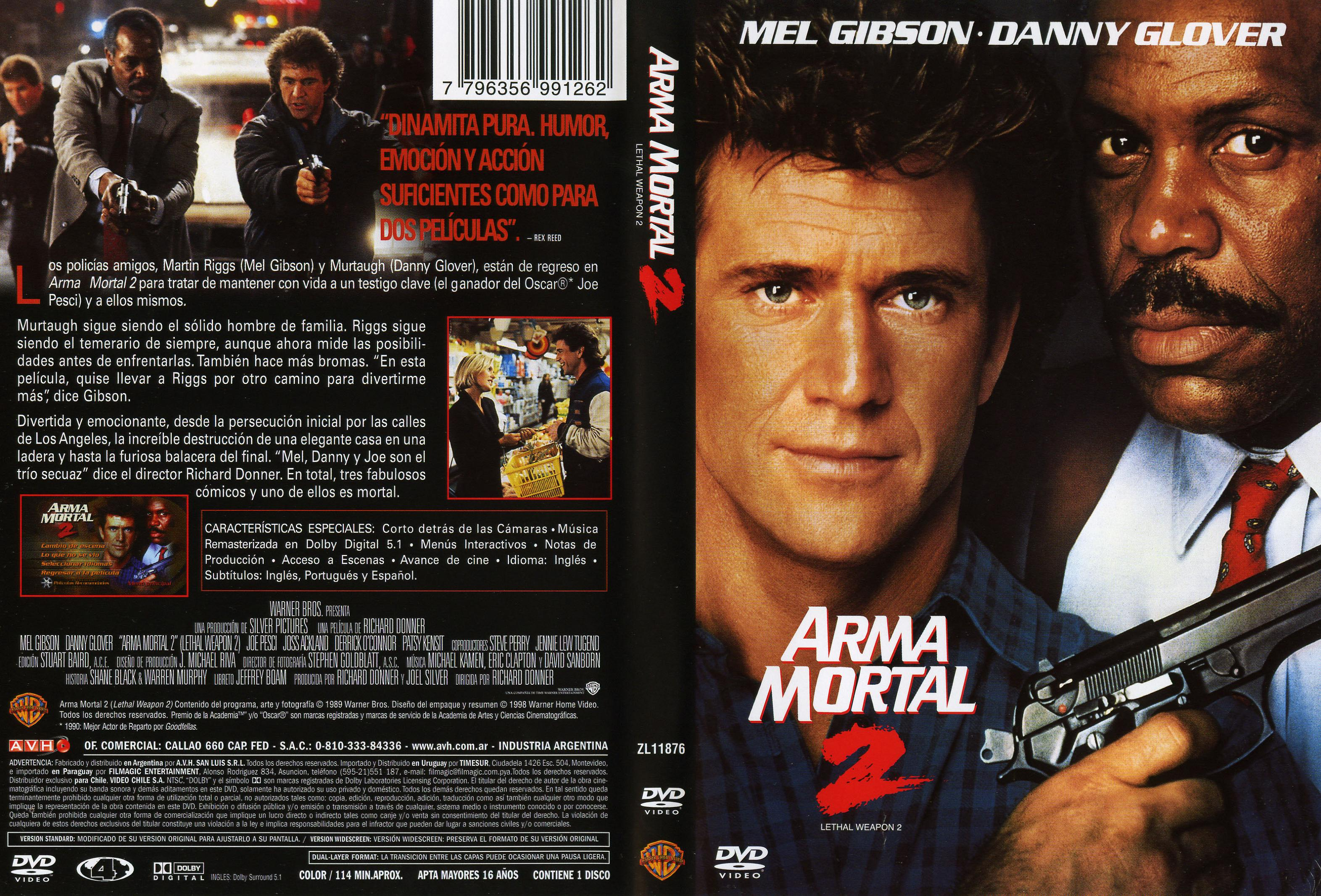 Arma mortal 2 -Lethal Weapon 1989 -Mg.,Mf.y Sf.-