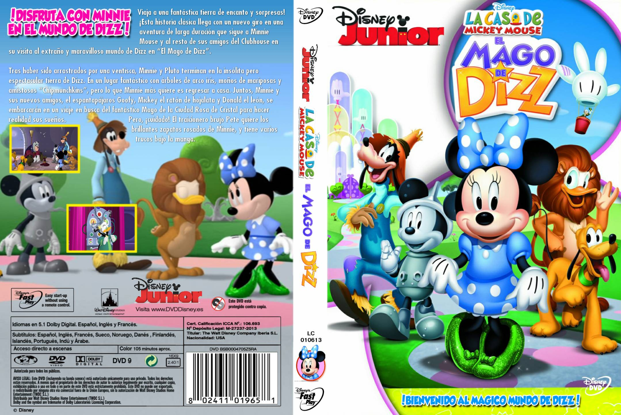 Mickey mouse clubhouse the wizard of dizz dvd amazoncouk - La casa de mickey mouse minnie cienta ...